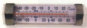 Cooper-Atkins 335 Refrigerator/Freezer Thermometer